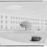St. Albans Naval Hospital, Jamaica, New York. View to long wing