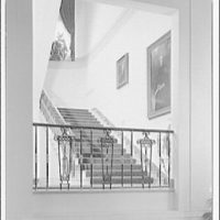 White House interiors. Stairway shot through passage in White House II