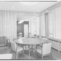 Becton Dickinson, Rutherford, New Jersey. Conference table, Mr. Dickinson's office I
