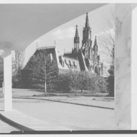Crematory, Greenwood Cemetery, Brooklyn, New York. Gothic entrance through crematory entrance canopy