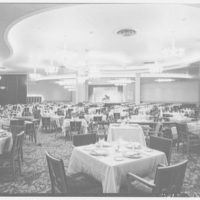 Fontainebleau Hotel, Miami Beach, Florida. General view, dining room to ballroom