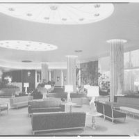 Fontainebleau Hotel, Miami Beach, Florida. Mid view of lobby