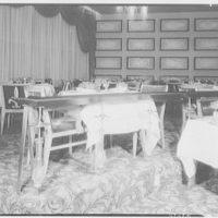 Fontainebleau Hotel, Miami Beach, Florida. Railing in dining room