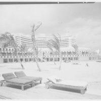 Fontainebleau Hotel, Miami Beach, Florida. View to cabanas
