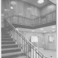 Garden City Village Hall, Garden City. Entrance hall to stairs, as before