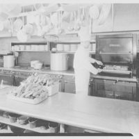 Long Island Lighting Co., Hicksville. Geide's, stoves with lobsters in foreground with chef