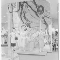 Lord & Taylor, business in Bala-Cynwyd, Pennsylvania. Mural at coats and suits