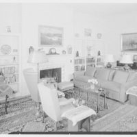 Mrs. George H. Huntington, residence on Dodgewood Rd. and Independence Ave., Riverside-on-Hudson, New York. Living room