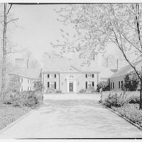 Robert F. De Graff, residence in Mill Neck, Long Island, New York. House from entrance drive
