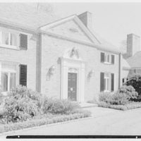Robert F. De Graff, residence in Mill Neck, Long Island, New York. Sharp view of entrance facade