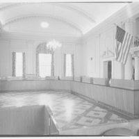 Roslyn Savings Bank, Roslyn, Long Island. Main banking room