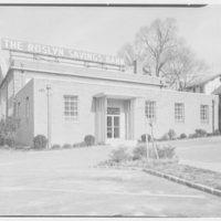 Roslyn Savings Bank, Roslyn, Long Island. Rear facade I from left