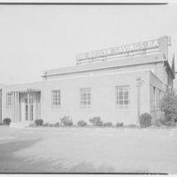 Roslyn Savings Bank, Roslyn, Long Island. Rear facade II from left