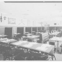 Stouffer's restaurant, Lancaster Ave., Philadelphia. Devin Room, to murals and horns