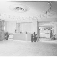 Stouffer's restaurant, Lancaster Ave., Philadelphia. Lobby, to Gaslight Room