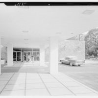Stouffer's restaurant, Lancaster Ave., Philadelphia. View through promenade
