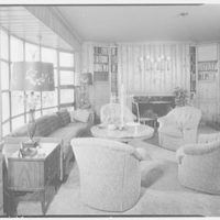 Abe Frankel, residence at 22 Auerbach Rd., Lawrence, Long Island. Den