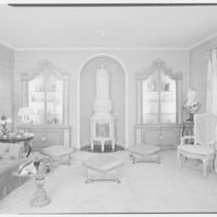 Abe Frankel, residence at 22 Auerbach Rd., Lawrence, Long Island. End of living room