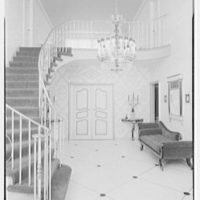 Abe Frankel, residence at 22 Auerbach Rd., Lawrence, Long Island. Staircase