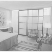 Biltmore Hotel, 408 Madison Ave., New York City. Bedroom, to open screen