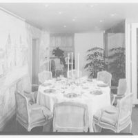 Biltmore Hotel, E. 42nd St., New York City. Executive suite, dining room, round table