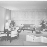 Biltmore Hotel, E. 42nd St., New York City. Executive suite, living room, to wall