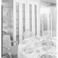 Biltmore Hotel, E. 42nd St., New York City. Executive suite, over dining table to doors
