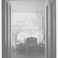 Biltmore Hotel, E. 42nd St., New York City. Executive suite, round table through doors