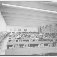 Fairleigh Dickinson College Library, Rutherford, New Jersey. Main reading room I