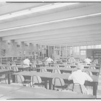 Fairleigh Dickinson College Library, Rutherford, New Jersey. Main reading room II