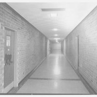 Forest Brook Elementary School, Hauppauge, Long Island. Brick corridor