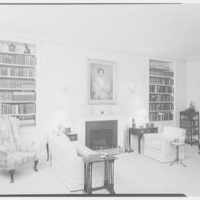 Harold Bache, residence at 812 Park Ave. Living room, to fireplace