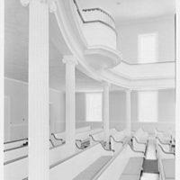 Hill's Chapel, Smith College, Northampton, Massachusetts. Balcony, sharp