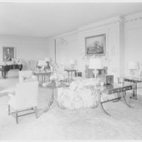 Mr. and Mrs. Pierre S. Dupont III, residence on Rockland Ave., Wilmington, Delaware. Living room, to piano