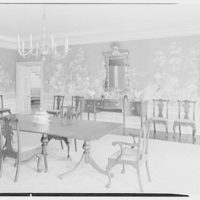 Mr. and Mrs. Pierre S. Dupont III, residence on Rockland Ave., Wilmington, Delaware. Dining room, to sideboard