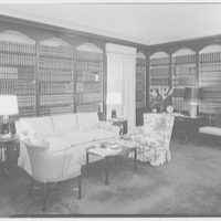 Mr. and Mrs. Pierre S. Dupont III, residence on Rockland Ave., Wilmington, Delaware. Library, to sofa
