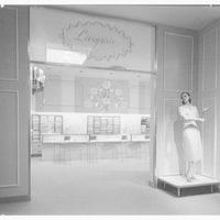 Best's department store, business in Abington, Pennsylvania. Lingerie