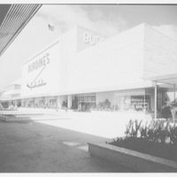 Burdine's department store, business in 163rd St. Shopping Center, Miami, Florida. Front face, p.m.