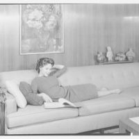 Dr. M. Scharfstein, residence at 118 Riverside Dr., New York. Daughter on couch