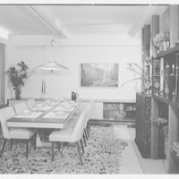 Dr. M. Scharfstein, residence at 118 Riverside Dr., New York. Dining table