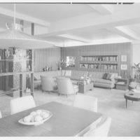 Dr. M. Scharfstein, residence at 118 Riverside Dr., New York. Living room from over dining room table
