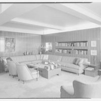 Dr. M. Scharfstein, residence at 118 Riverside Dr., New York. Living room, to fireplace