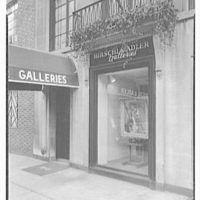 Hirschl & Adler Gallery, 21 E. 67th St., New York. Gallery entrance