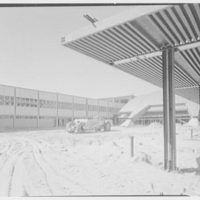 Idlewild National Airport. Arrival building, front through canopy I