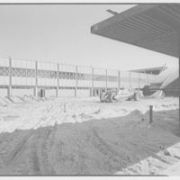 Idlewild National Airport. Arrival building, front through canopy II