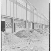 Idlewild National Airport. Arrival building, glass panels, vertical in front