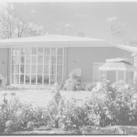 Maurice Levin, residence at 236 Crestwood Dr., South Orange. East facade, round window