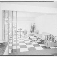 Mr. and Mrs. Gustav Jaff, residence on Atkinson Rd., Rockville Centre. Sun room