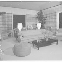 Mr. and Mrs. J.E. Kiernan, residence in Stuart, Florida. Garden room at night