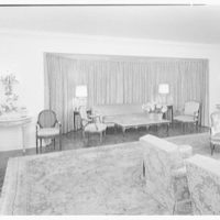 Mr. and Mrs. J.E. Kiernan, residence in Stuart, Florida. Living room V, to large window